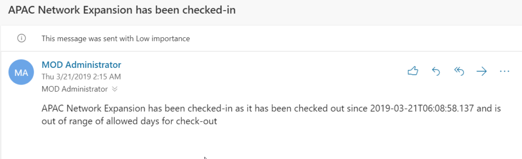 Automating the Check-In of projects checked out for too long